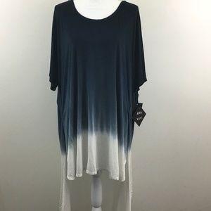 NEW Ava & Viv High Low Tunic Dip Dye size 3X